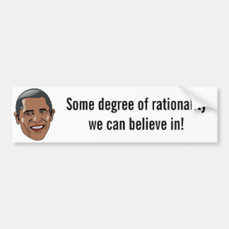 Obama - un cierto grado de racionalidad pegatina para auto