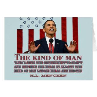 Obama un hombre con ideas idiotas tarjetón