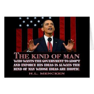 Obama un hombre con ideas idiotas felicitación