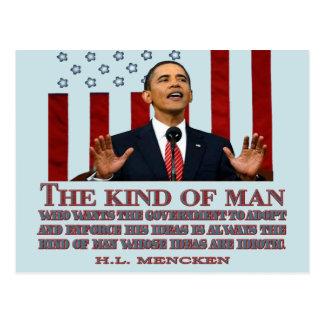 Obama un hombre con ideas idiotas tarjetas postales