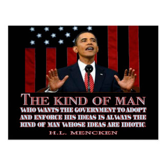 Obama un hombre con ideas idiotas postales