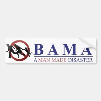 Obama - un hombre hizo desastre: Amnistía Pegatina Para Auto