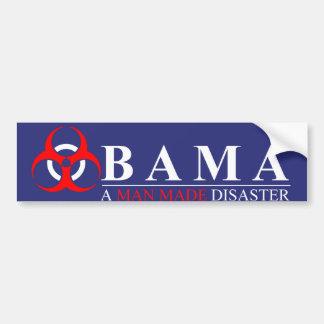 Obama - un hombre hizo desastre: BioHazard Pegatina Para Auto