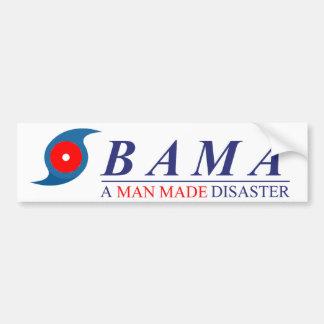Obama - un hombre hizo desastre: Natural Pegatina Para Auto