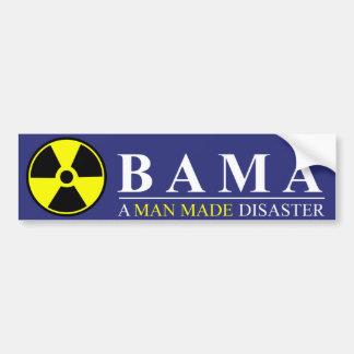 Obama - un hombre hizo desastre: Nuclear Pegatina Para Auto