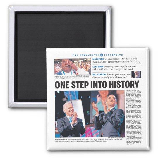 Obama: Un paso en historia Imán Cuadrado