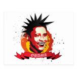¡Obama un qué punk! Tarjeta Postal