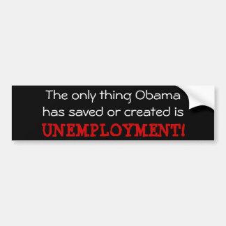 Obama Unemployment Car Bumper Sticker