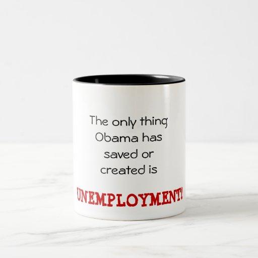 Obama Unemployment Coffee Mug