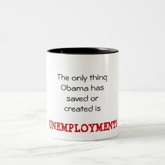 Obama Unemployment Two-Tone Coffee Mug