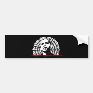 Obama Unite for Globalism & Enslavement Car Bumper Sticker