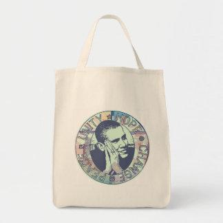 Obama Unity, Hope, Change and Peace 2012 Tote Bag