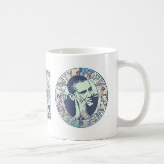 Obama Unity, Hope, Change and Peace 2012 Classic White Coffee Mug