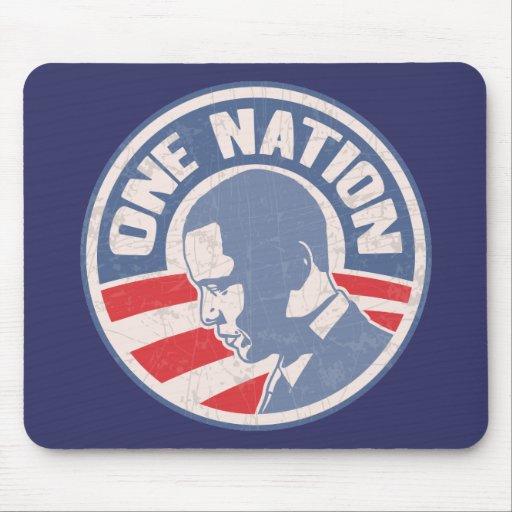 obama-uno-nación-T Alfombrillas De Ratones