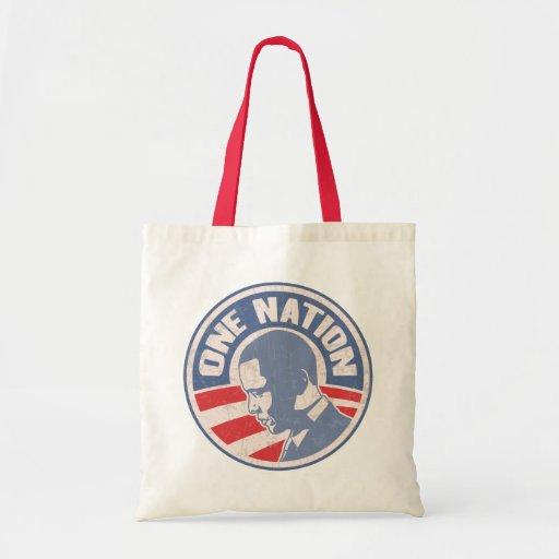 obama-uno-nación-T Bolsa Tela Barata