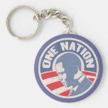 obama-uno-nación-T Llavero Personalizado