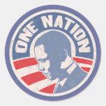 obama-uno-nación-T Pegatina Redonda