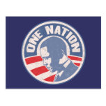 obama-uno-nación-T Tarjeta Postal
