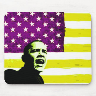 Obama US Flag Yellow Mousepad