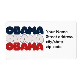 Obama USA Label