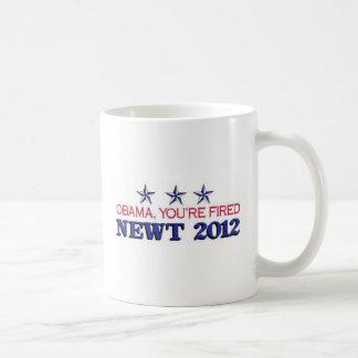 Obama usted es el Newt encendido 2012 Taza