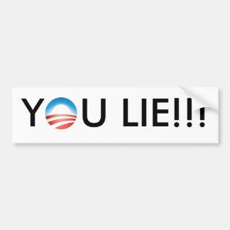 ¡Obama usted miente!!! Pegatina Para Auto