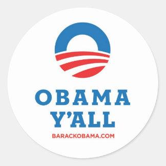 Obama usted etiqueta redonda