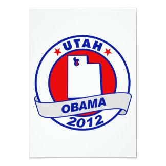 Obama - utah 5x7 paper invitation card