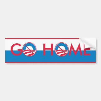 Obama va a casa pegatina para auto