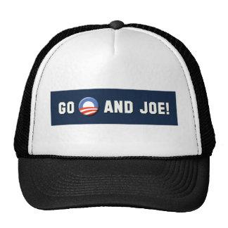 """¡Obama - van """"O"""" y Joe! Gorras De Camionero"""