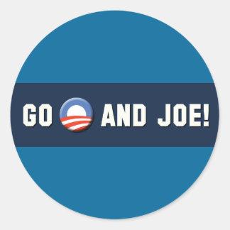 "¡Obama - van ""O"" y Joe! Pegatinas Redondas"