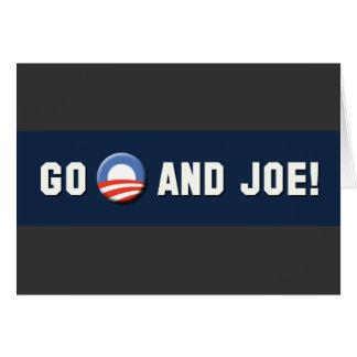 """¡Obama - van """"O"""" y Joe! Tarjeta De Felicitación"""