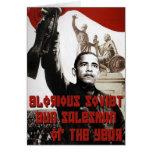 Obama: Vendedor soviético glorioso del arma del añ Tarjetas