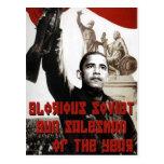 Obama: Vendedor soviético glorioso del arma del añ Tarjetas Postales