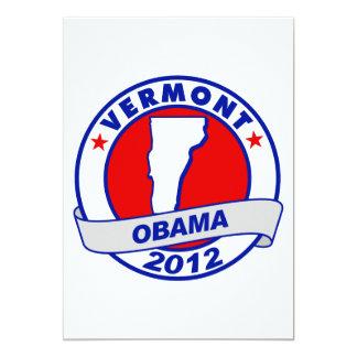 Obama - vermont 5x7 paper invitation card