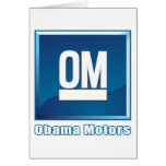 Obama viaja en automóvili el logotipo tarjetas