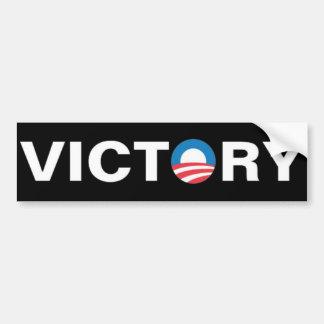 Obama - victoria pegatina para auto