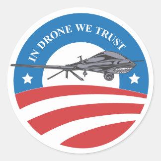 obama victoria-En abejón nosotros Etiquetas Redondas