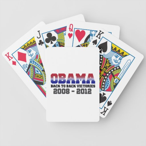 Obama Victory 2008 - 2012 Bicycle Playing Cards