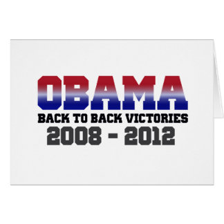 Obama Victory 2008 - 2012 Card