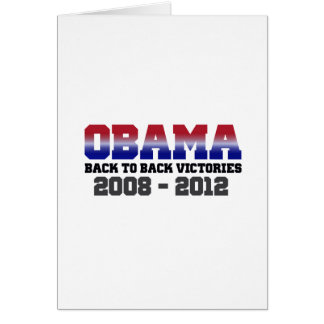 Obama Victory 2008 - 2012 Card