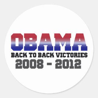 Obama Victory 2008 - 2012 Classic Round Sticker