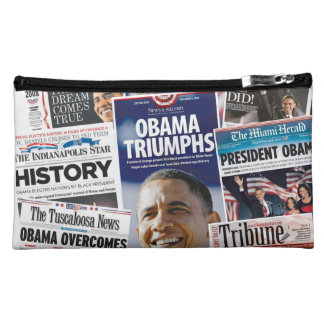 Obama Victory 2008 2012 Medium Sueded Bag Cosmetic Bags
