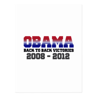 Obama Victory 2008 - 2012 Post Card