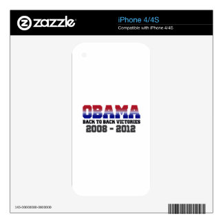 Obama Victory 2008 - 2012 Skin For iPhone 4S