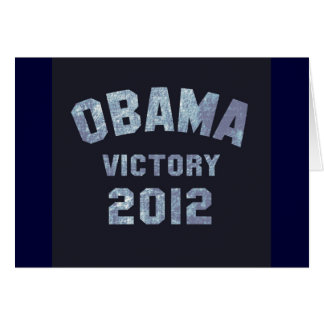 Obama Victory 2012 Card