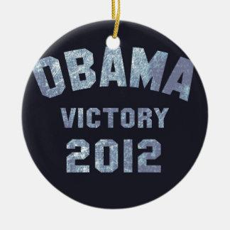 Obama Victory 2012 Ceramic Ornament