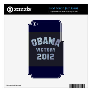 Obama Victory 2012 Decal For iPod Touch 4G