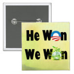 Obama Victory 2012 Environmental Green Earth pin Pinback Buttons