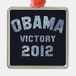 Obama Victory 2012 Metal Ornament